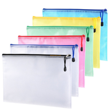 Large quantity promotional different colour A4 size soft plastic clear document custom personalized plastic bags file folder with zipper