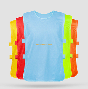Best quality custom logo printing hot team numbered running bib football training vest soccer training bibs