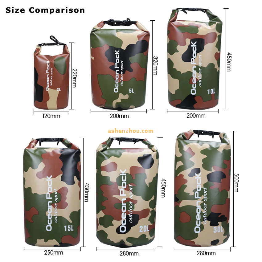 Ocean pack dry bag, PVC waterproof diving bag, dry bag backpack, travel waterproof dry bag with should strap for camping