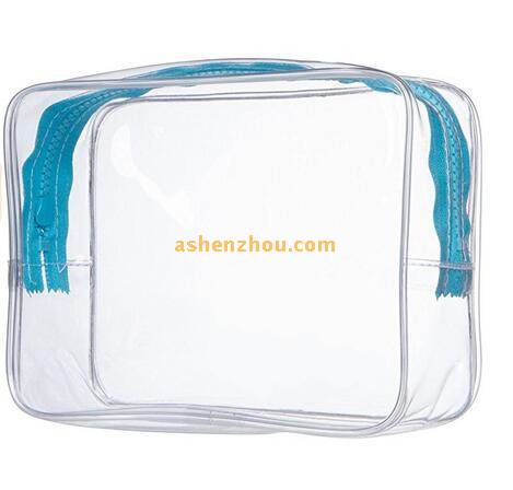 Useful and fashional custom portable outdoor shrink wrap transparent PVC travel bags for cosmetic