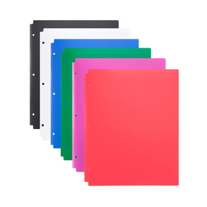 Good quality most popular custom design waterproof transparent plastic sheet L shape A4 pp 3-hole L file folder