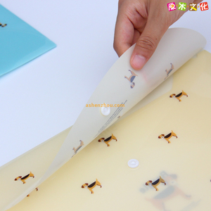 Manufacturer top quality custom design A4 size waterproof office A4 document pp plastic presentation translucent envelope bags