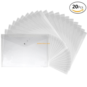 Good quality functional custom business promotion and advertising A4 clear pp plastic envelope wallets bags wholesale.