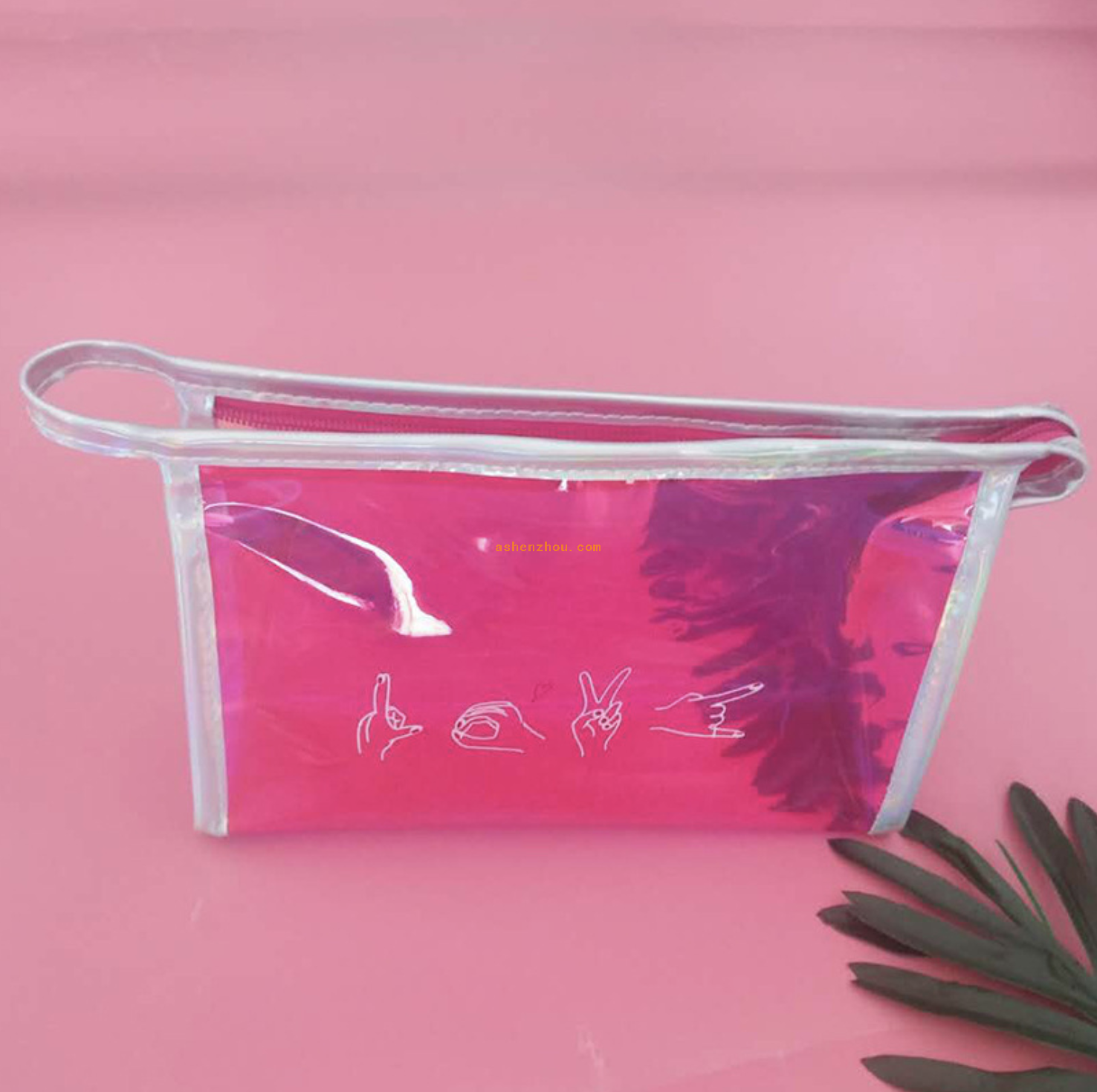 Top selling promotion cheap custom universal travel transparent flat bottom laser PVC Cosmetics bags for storing