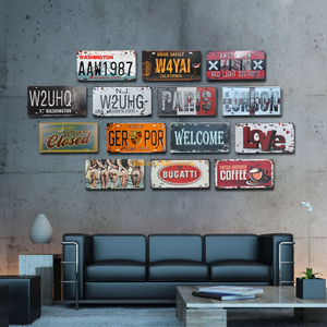SHENZHOU Manufacturer top quality custom high quality replica vintage art signs design your own metal sign for home decor