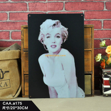 Custom souvenir vintage metal metal plaque tin sign about Marilyn Monroe printing wholesale