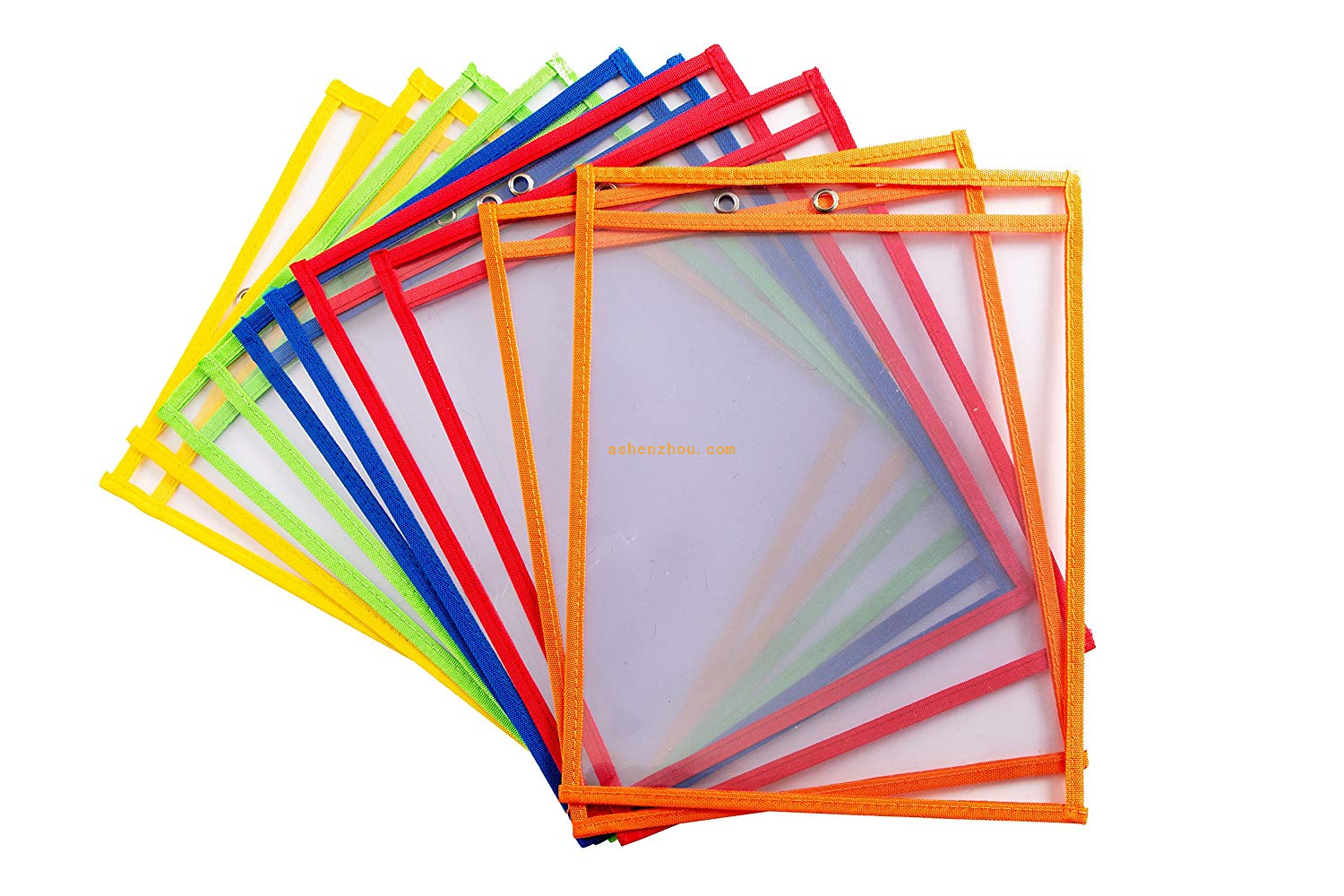 Popular cheap custom printed reusable dry erase pockets wholesale pvc file pouch