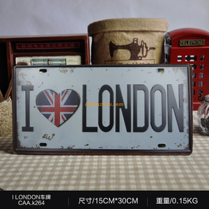 Newest good price custom design personalized vintage decorative car license plate mater tin signs on wall for sale