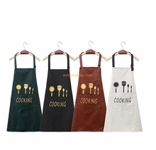 Fashionable custom long blank cotton aprons restaurant hotel kitchen cooking chef apron