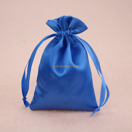 Factory price high quality custom logo printed silk satin cosmetic bag for jewelry