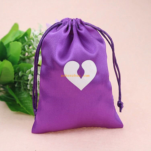 Eco-friendly fashion custom underwear packaging bag silk satin jewelry bags