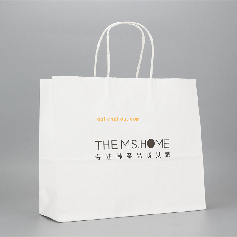 China good quality custom logo printing and design craft paper bag for shopping and promotion